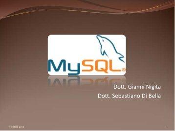 Dott. Gianni Nigita Dott. Sebastiano Di Bella - Dipartimento di ...