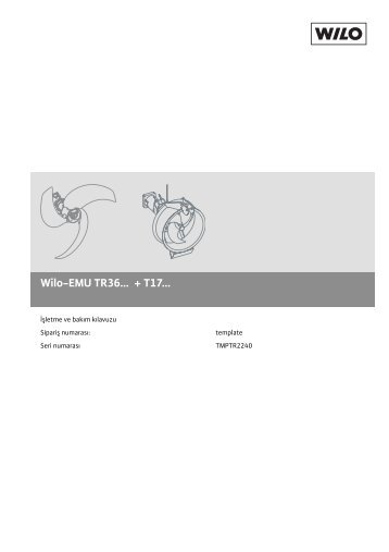 pdf-Download (Türkçe, 2.4 MB) - Wilo-Online Katalog