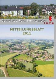 MITTEILUNGSBLATT 2011 - Rohr im Kremstal - Land Oberösterreich