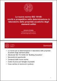 Le nuove norme ISO 10140 - Associazione italiana di acustica