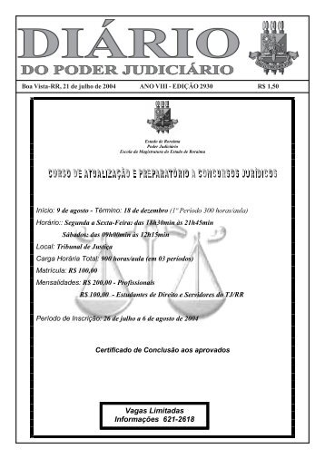 21 - Tribunal de Justiça do Estado de Roraima