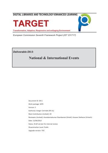 National & International Events - TARGET Project