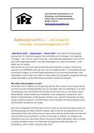 Die Gruppe für Trennungs- und Scheidungskinder im IFZ