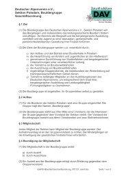 Deutscher Alpenverein e.V., Sektion Potsdam, Bouldergruppe ...