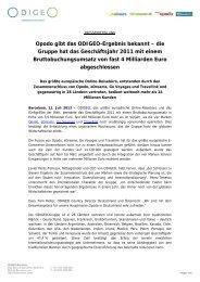 Opodo gibt das ODIGEO-Ergebnis bekannt – die Gruppe hat das ...