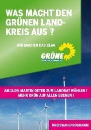Kreiswahlprogramm - Bündnis 90/Die Grünen, Kreisverband Verden