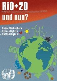 Rio+20 was nun? - Deutsche Gesellschaft für die Vereinten ...
