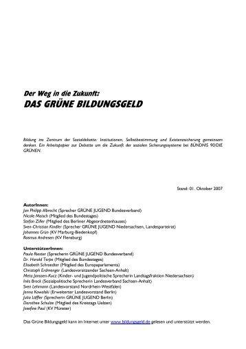 Grünen Bildungsgeld - Stefan-Ziller.de