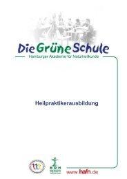 Schulbroschüre für Heilpraktiker - Die Grüne Schule