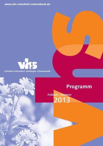 Programm - Volkshochschule Osterholz-Scharmbeck / Hambergen ...