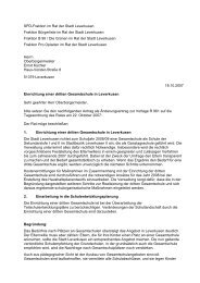 SPD-Fraktion im Rat der Stadt Leverkusen Fraktion Bürgerliste im ...