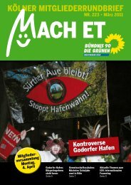 Nr. 223, März 2011 - Grüne Köln