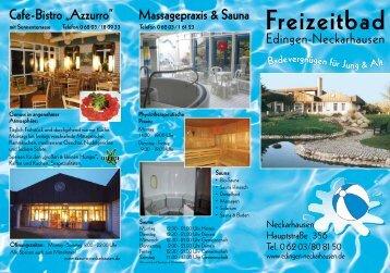 Freizeitbad-Flyer (PDF) - Edingen-Neckarhausen