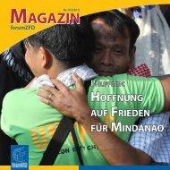 hoffnung auf frieden für mindanao magazin - Ziviler Friedensdienst