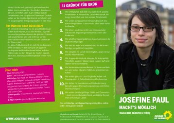 Kandidatinnen-Flyer - Josefine Paul