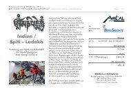 Indien / Spiti - Ladakh - AMICAL alpin