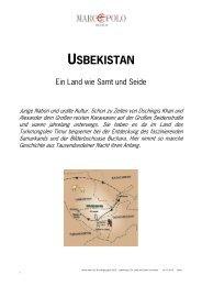 USBEKISTAN - Studiosus Reisen München GmbH