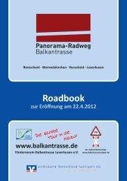 Roadbook Balkantrasse - Panorama-Radwege - Bahntrassenradeln
