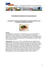 Rezept: Schwäbisch-hällischer Schweinebraten ... - beim rbb