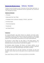 Leckere Rezepte als PDF zum download - Galloways vom ...