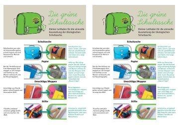Die grüne Schultasche - BUNDjugend Baden-Württemberg