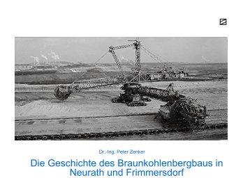Die Geschichte des Braunkohlenbergbaus in ... - Dr. Peter Zenker