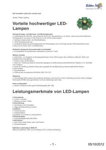 Preisliste für LED Lampen als Ersatz für Halogenstäbe - GLAMMER ...