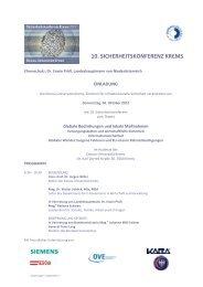 10. SICHERHEITSKONFERENZ KREMS - SecureLINE