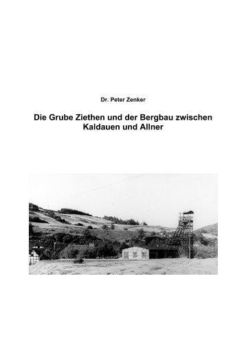 Die Grube Ziethen und der Bergbau zwischen ... - Dr. Peter Zenker
