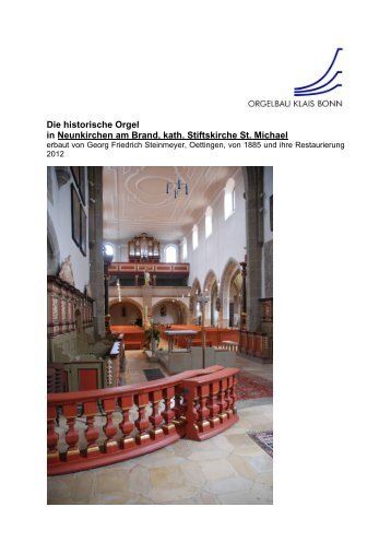 Die historische Orgel in Neunkirchen am Brand ... - Orgelbau Klais