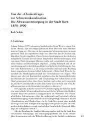 Cloakenfrage - Berner Zeitschrift für Geschichte