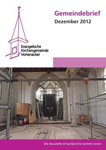 Gemeindebrief 12/2012 - Evangelische Kirchengemeinde Hohenacker