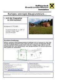 Immobilien - Ehrwald-Lermoos-Biberwier