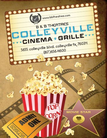 Colleyville Cinema Grille Menu