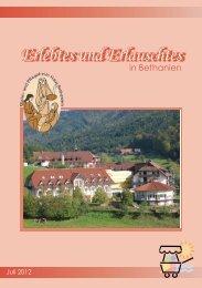Erlebtes und Erlauschtes - Haus Bethanien