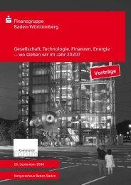Vorträge - Sparkassenverband Baden-Württemberg