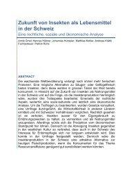 Insekten als Lebensmittel - Ueberfachliche Kompetenzen im ...