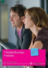 T-Mobile Business Preisliste - Telekom