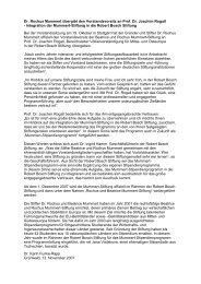 Dr. Rochus Mummert übergibt den ... - Mummert-Stiftung