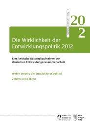 Die Wirklichkeit der Entwicklungspolitik 2012 - Welthungerhilfe