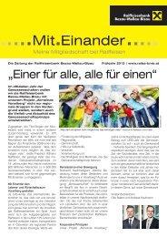 NEU: Ausgabe Frühjahr 2012 - Raiffeisen Bezau-Mellau-Bizau
