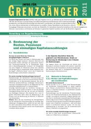 Besteuerung der Renten/Pensionen (pdf) - EURES Bodensee