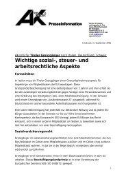 Presseinformation - AK - Salzburg