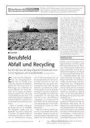 Berufsfeld Abfall und Recycling - WiLa-Arbeitsmarkt
