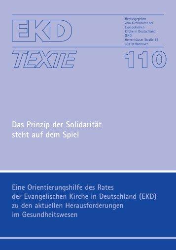 EKD-Text 110 - Evangelische Kirche in Deutschland