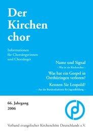 Der Kirchen chor - Evangelische Kirche in Deutschland