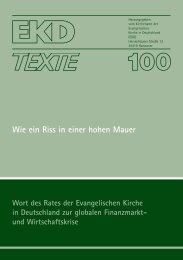 EKD Texte 100.qxd - Evangelische Kirche in Deutschland