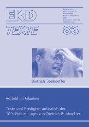 EKD-Text 83 - Evangelische Kirche in Deutschland