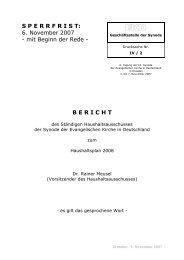 6. November 2007 - Evangelische Kirche in Deutschland