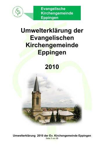 Umwelterklärung der Evangelischen Kirchengemeinde Eppingen ...